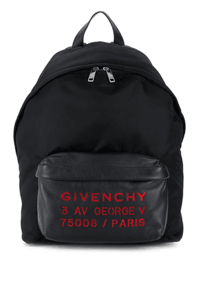 Givenchy leather-panelled shell backpack - Black