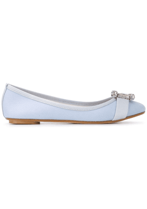 Anna Baiguera buckle appliqué ballerinas - Blue