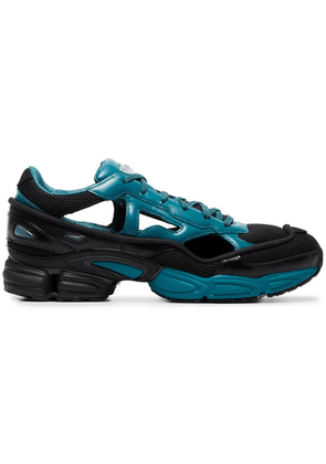 Adidas By Raf Simons Black And Blue Replicant Ozweego Leather Sneakers