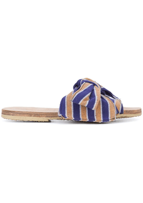 Brother Vellies Burkina Papaye stripe sandals - Blue