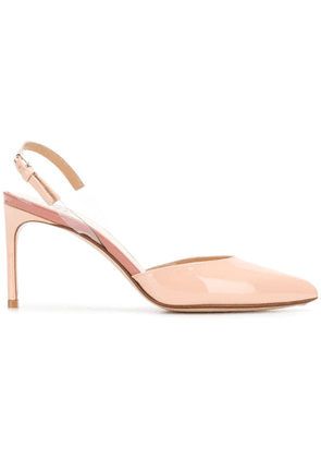 Francesco Russo pointed slingback pumps - Neutrals