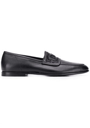 Dolce & Gabbana logo loafers - Black
