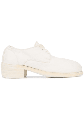 Guidi derby shoes - White