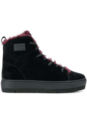 Armani Jeans hi-top lace up sneakers - Black
