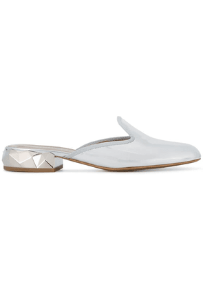 Darmaki Ren backless metallic loafers