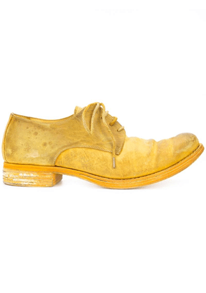 A Diciannoveventitre distressed derby shoes - Yellow