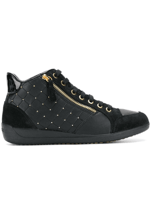 Geox side zipped sneakers - Black