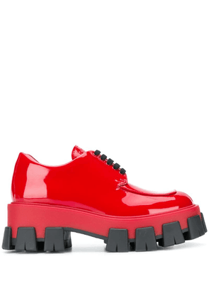 Prada lace-up derby shoes - Red