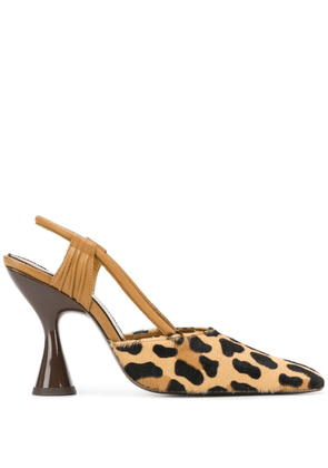 Dorateymur animal pattern pumps - Brown