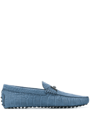 Tod's crocodile effect Double T loafers - Blue
