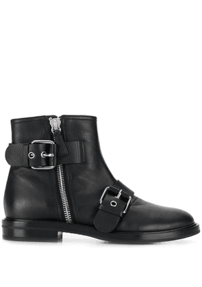 Casadei zipped ankle boots - Black