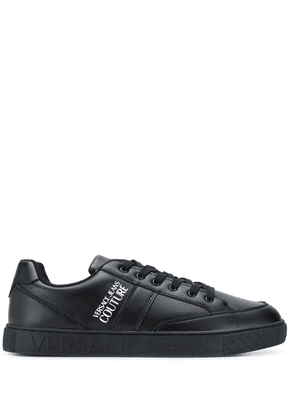 Versace Jeans Couture logo print sneakers - Black