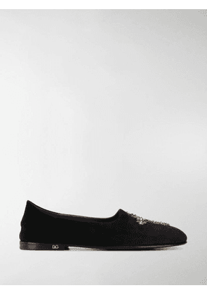 Dolce & Gabbana cross loafers - Black