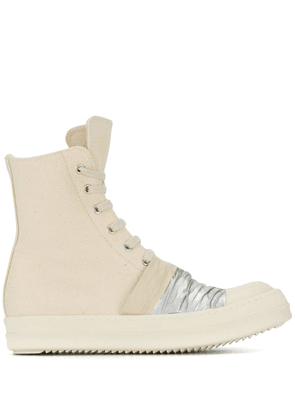 Rick Owens DRKSHDW panelled lace-up boots - Neutrals