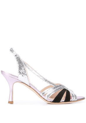 Gia Couture textured sandals - Silver