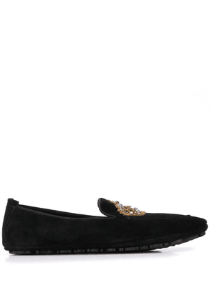 Dolce & Gabbana embroidered slippers - Black