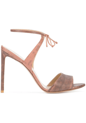 Francesco Russo tie front sandals - Pink