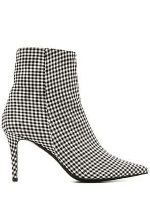 Barbara Bui plaid ankle boots - Black