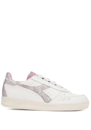Diadora glitter lace-up sneakers - White