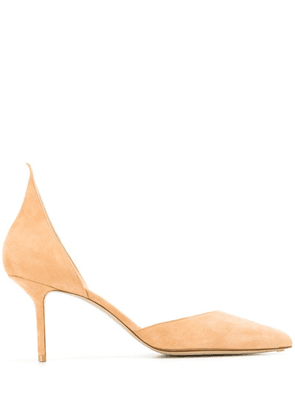 Francesco Russo sharp edge pumps - Neutrals