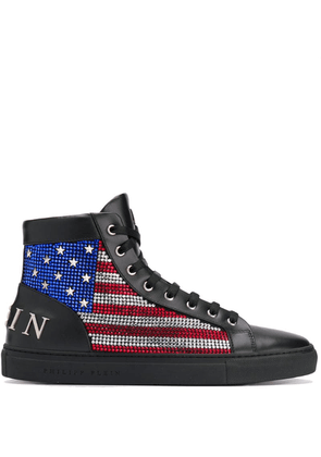 Philipp Plein Hi-Top flag sneakers - Black