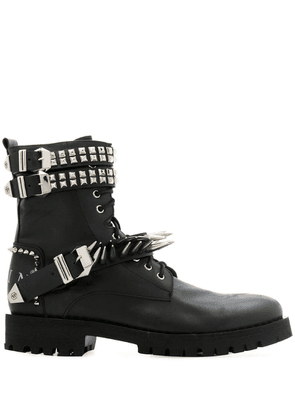 Philipp Plein studded ankle boots - Black
