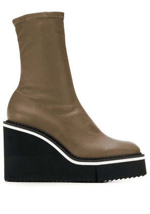 Clergerie Bliss wedge boots - Brown