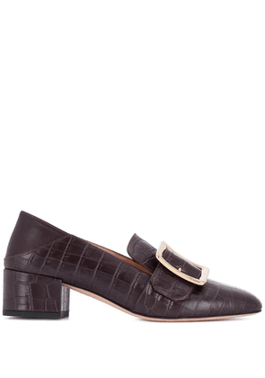 Bally Janelle buckle mules - 575 Prune