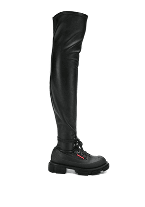 Both over-the-knee boots - Black