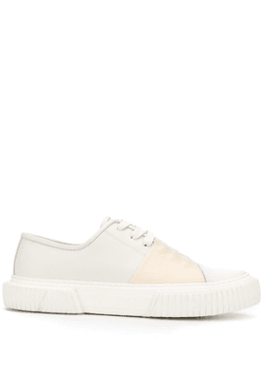 Both stitching detail sneakers - White