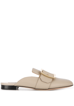 Bally buckled flat mules - Neutrals