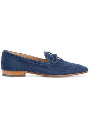 Tod's bow-trimmed loafers - Blue