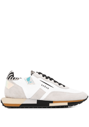 Ghoud contrasting panel sneakers - White