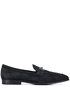Tod's double T buckle loafers - Blue