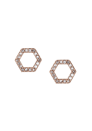 Astley Clarke 'Honeycomb' diamond stud earrings - Metallic