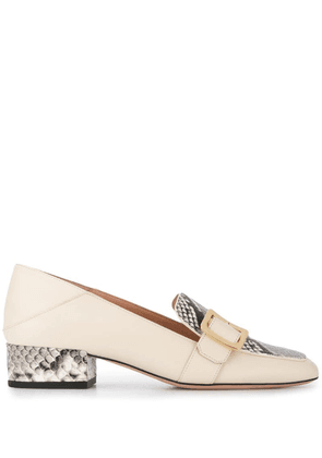 Bally Janelle pyhton heel loafers - Neutrals