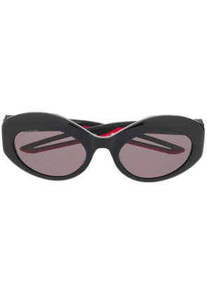 Balenciaga Hybrid oval sunglasses - Black