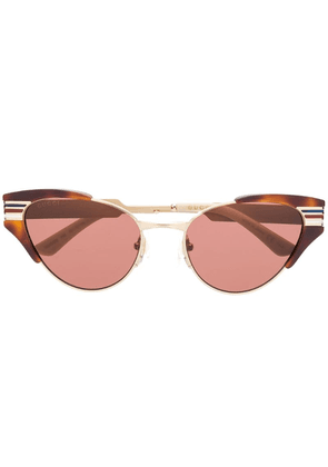 Gucci Eyewear cat eye sunglasses - Brown