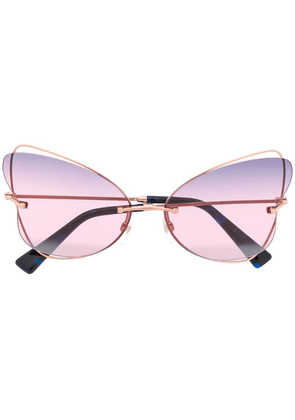 Valentino Eyewear oversized cat eye sunglasses - Gold