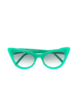 Ganni cat eye sunglasses - Green