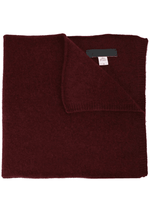 The Elder Statesman ribbed end scarf - Red