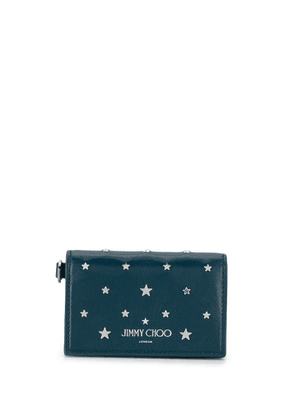 Jimmy Choo Cliffy studded cardholder - Blue