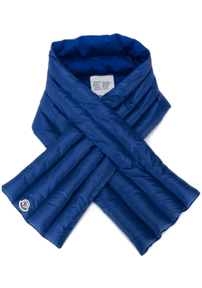 Moncler feather down wrap scarf - Blue