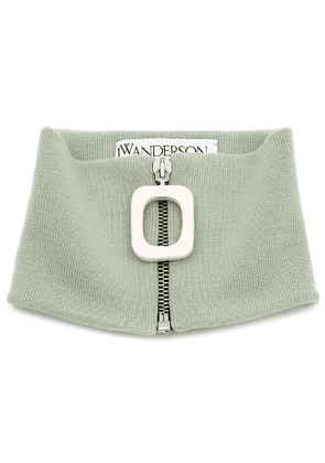 JW Anderson zipped knitted neckband - Green