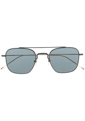 Thom Browne square aviator sunglasses - Black