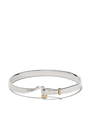 Georg Jensen Sterling silver and 18kt yellow gold Torun bangle -