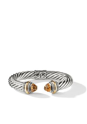 David Yurman Cable citrine and 14kt yellow gold detailed 10mm cuff -