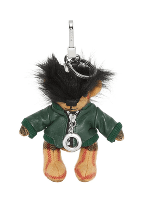 Burberry Thomas Bear Charm in Leather Jacket - Green
