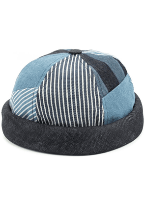Beton Cire Miki patchwork sailor cap - Blue