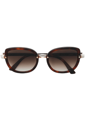Face À Face round shaped sunglasses - Brown